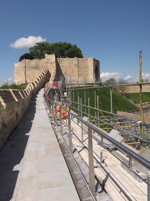 882-01 Lincoln Castle Walls7